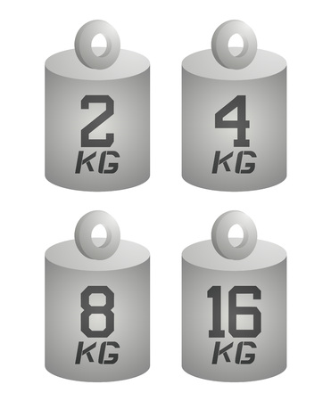 four weight symbols Stock Vector - 125779692