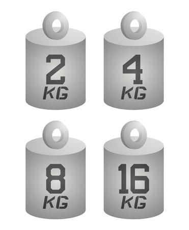 four weight symbols Illustration