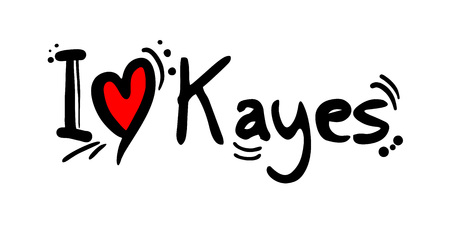 Kayes city of Mali love message Archivio Fotografico - 125782526