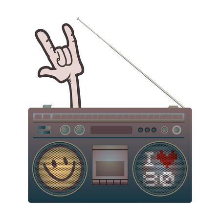 old radio illustration 矢量图片