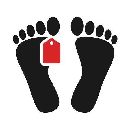 dead man foot icon