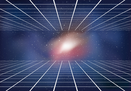 Fond d'univers dimensionnel