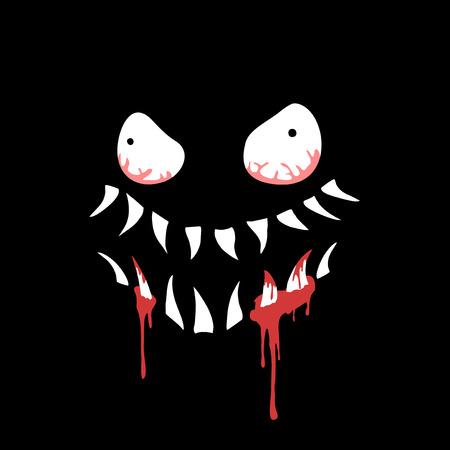 terrifying face illustration Ilustração