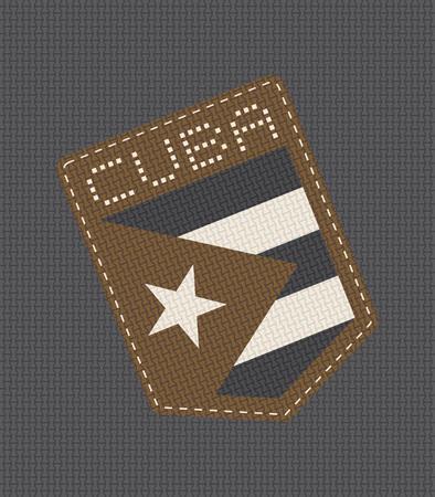 nice Cuba denim patch