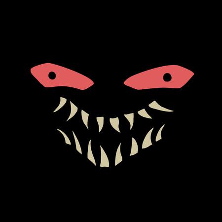 terrifying face illustration Иллюстрация