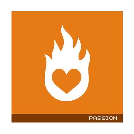 flat passion icon