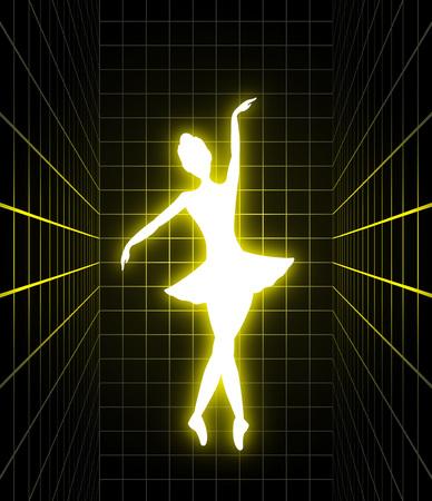 Lighting dancer illustration