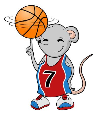joueur de rat de basket-ball