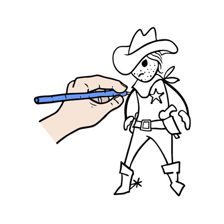 Design of cowboy illustration