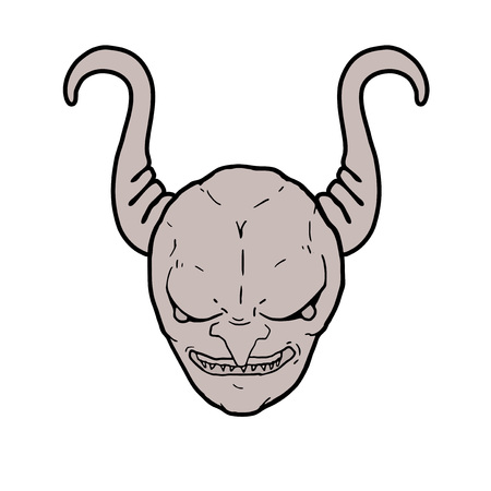 evil face with big horns
