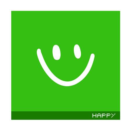 Flat smile icon
