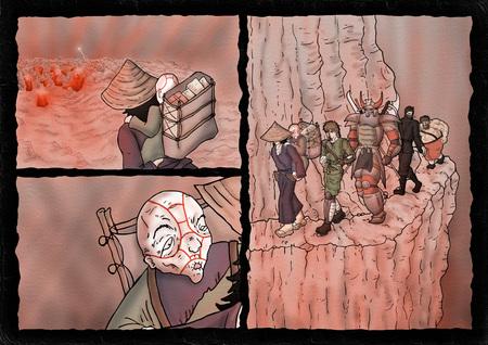 fantasy comic cavern scene