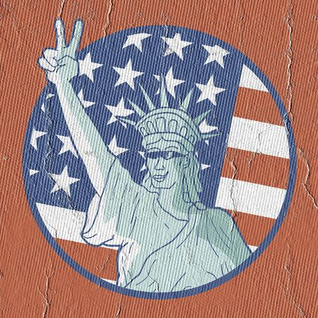 Funny liberty statue Imagens