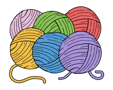 color balls of wool