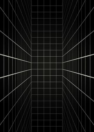 futuristic room illustration Ilustração