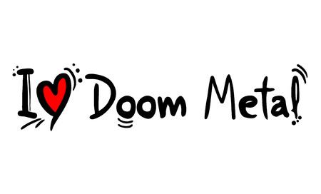 Doom Metal music style love Ilustrace