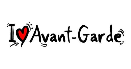 Avant Garde music style love message Illustration