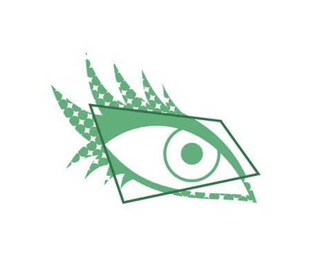 eye visual effect symbol Ilustrace