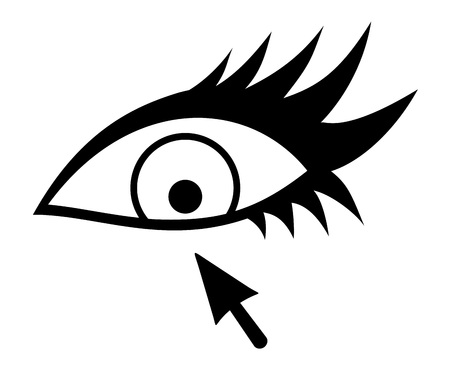 female eye and arrow