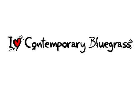 Contemporary Bluegrass music love Illustration