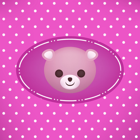 baby bear face illustration Иллюстрация