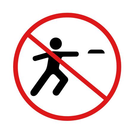 verbotenes Abspielen von Flugscheibensymbol