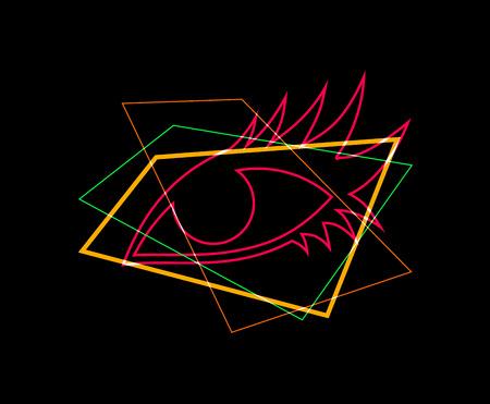 light eye art symbol Banco de Imagens - 124996422