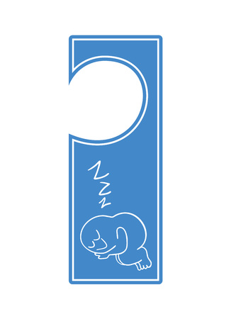 sleeping tag for door 向量圖像