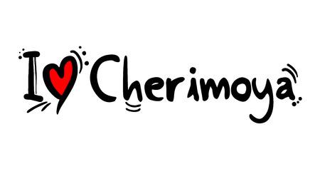 Cherimoya fruit love message Archivio Fotografico - 124996426