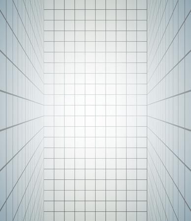 elegant white room Illustration