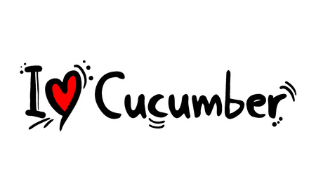 Cucumber fruit love message