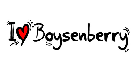 Boysenberry love message