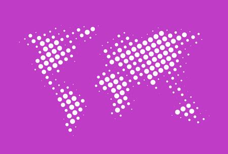 Creaive world map design