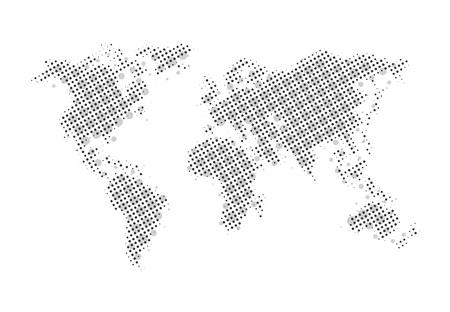 Creaive world map design Banque d'images - 124996439
