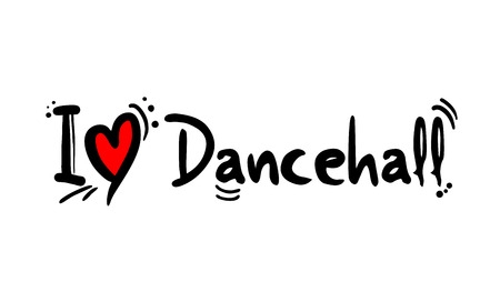 Dancehall music style love Banque d'images - 124996440