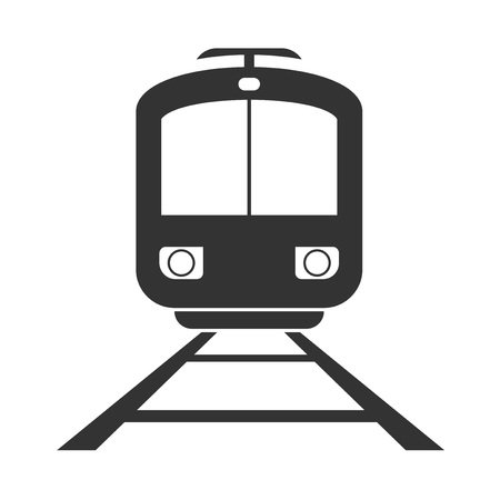 flat train icon