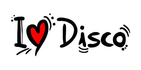 Disco music style love