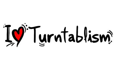 Turntablism music style love Archivio Fotografico - 124996452