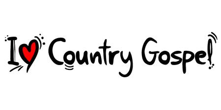 Country Gospel music love Ilustrace
