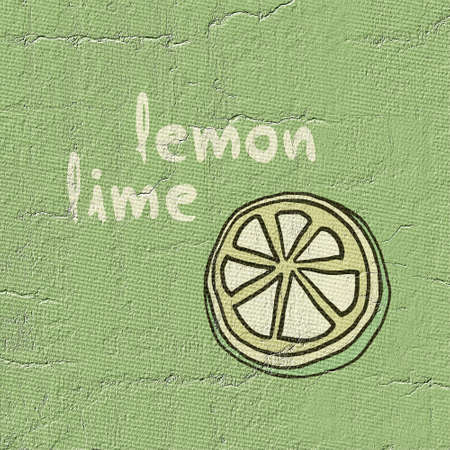 Lemon lime illustration