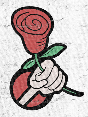 Red rose illustration Imagens