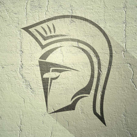 Design of spartan helmet draw