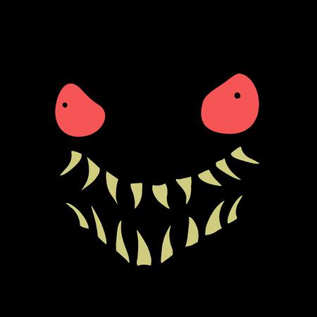 ilustración de cara aterradora
