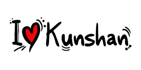Kunshan city of China love message