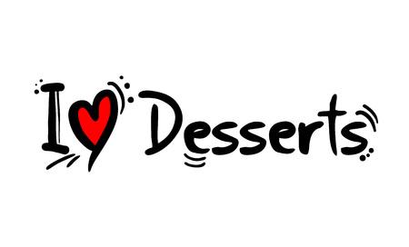 desserts love message
