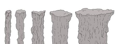 Set of rock elements Ilustracje wektorowe