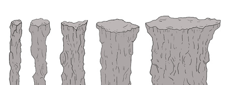 Zestaw elementów skalnych Ilustracje wektorowe
