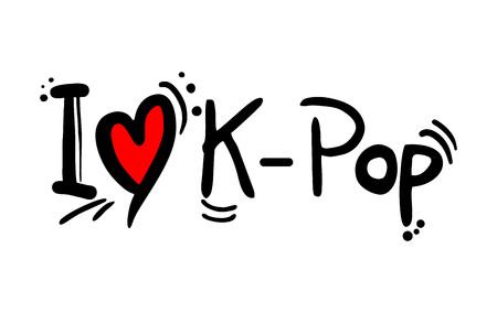 K Pop music style love Çizim