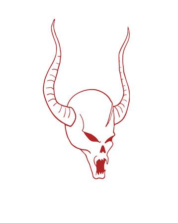 evil demon draw