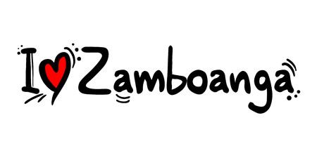 Zamboanga, Philippines city Illusztráció
